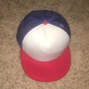 Red, white and blue trucker hat